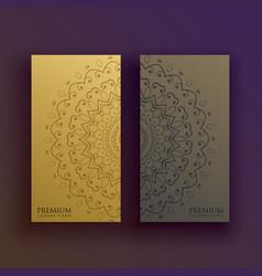 Premium mandala card decoration design vector