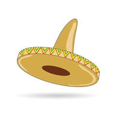 Sombrero hat from mexico vector