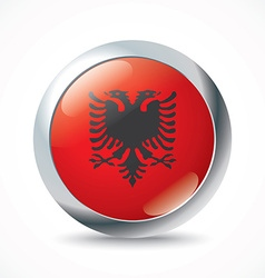 Albania flag button vector