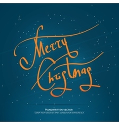 Christmas handwritten lettering vector
