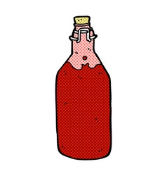 Comic cartoon homemade wine bottle vector