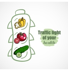 Traffic light of health vector