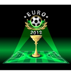 cup of euro 2012 or demonstration football vector image