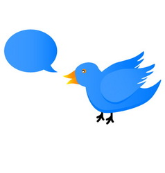 Twitter blue bird vector