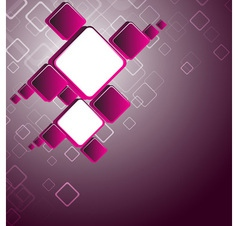 Abstract pink square background vector image