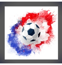 Sport background with watercolor stain vector