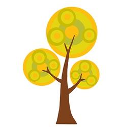 Abstract Cartoon Autumn Tree vector image