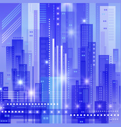 abstract modern cityscape vector image vector image