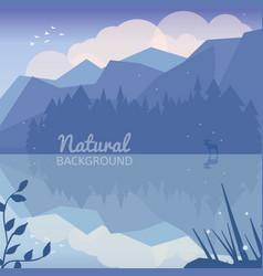 Alaska landscape natural background vector