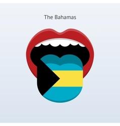 Bahamas language abstract human tongue vector