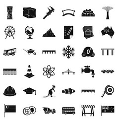 Bridge icons set simple style vector