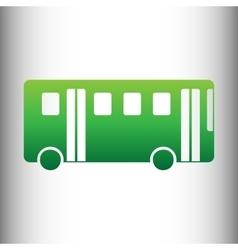 Bus simple icon vector image vector image