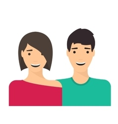 Couple man and woman in love vector image
