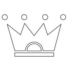 Crown pictogram icon vector