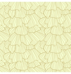 Doodle abstract frills Seamless pattern vector image