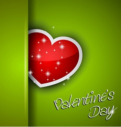 Elegant Valentines Day background vector image vector image