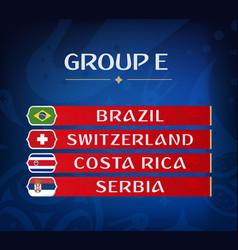 Football championship groups set of national vector