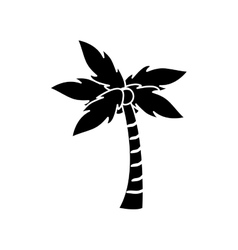 Isolated palm tree plant design vector