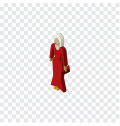 Isolated woman isometric female element vector