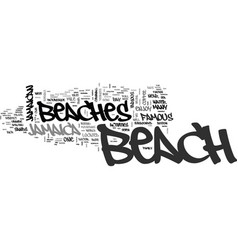 Jamaican beaches text background word cloud vector