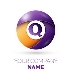 Letter q logo symbol in the colorful circle vector