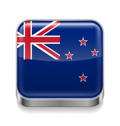 Metal icon of New Zealand vector image