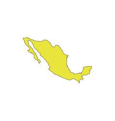 mexico map icon vector image vector image