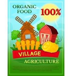Organic food poster vector