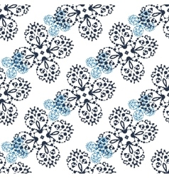 Print of abstract symmetry pattern of ink spalshes vector