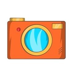 Retro photo camera icon cartoon style vector image vector image