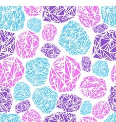 seamless pattern diamond vector image