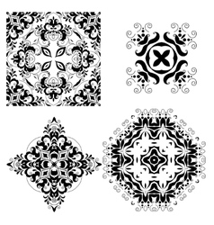 Set of ornate ornaments vector image vector image