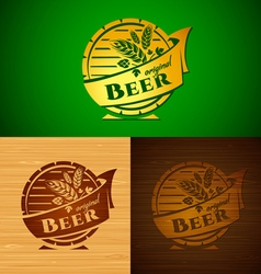 Set of templates beer emblem vector image
