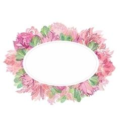 Soft Oval Floral Frame vector image