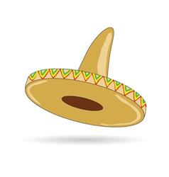 Sombrero hat from mexico vector