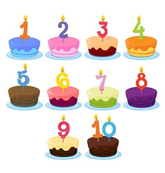 Ten Cakes vector image