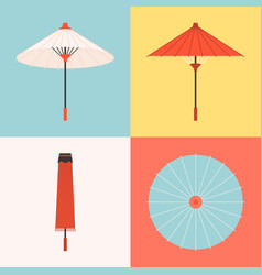 traditional umbrella vector image