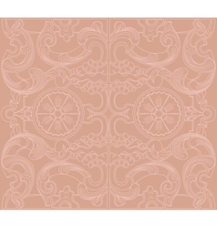 Vintage baroque damask floral ornament vector image