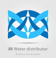 Water distributor business icon vector image vector image