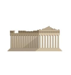 World landmark Flat design of parthenon greek vector image