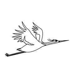Isolated china bird design vector