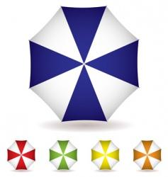 umbrella top collection vector image