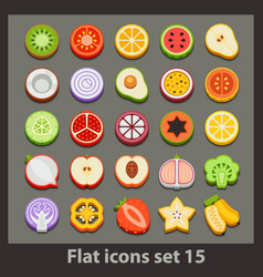 Flat icon-set 15 vector