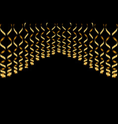 Serpentine ribbons isolated on background vector