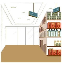 Supermarket Interior Background vector image