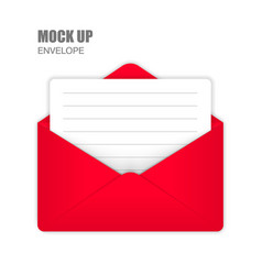 red open envelope with empty card vector image