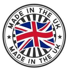 Stamp with flag of the uk made in the uk vector