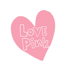 love pink vector image