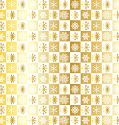 Gold snowflake pattern vector