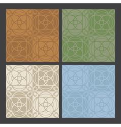 4 colors antique patterns vector image